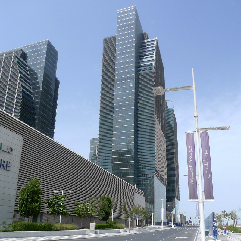 Sowwah Square mit Financial Center, Abu Dhabi (VAE)